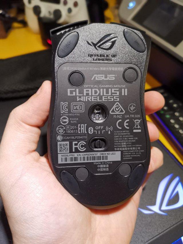 Asus ROG Gladius II Wireless + Asus ROG Balteus Qi - Immagine 1