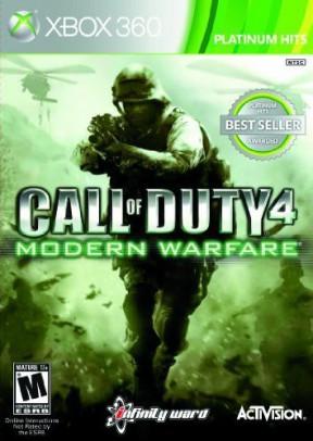 Call of Duty 4: Modern Warfare Xbox 360 Cover