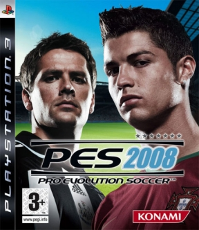 PES 2008 PS3 Cover