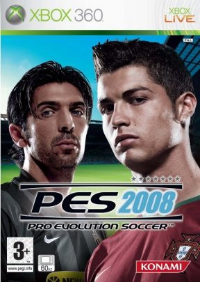 PES 2008 Xbox 360 Cover