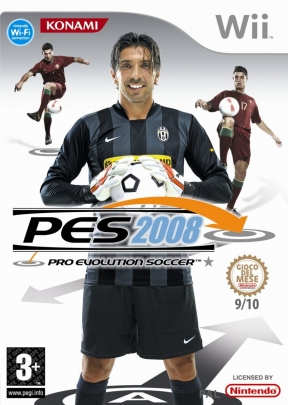 PES 2008 Wii Cover