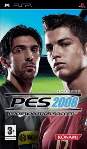 PES 2008 PSP Cover