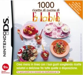1000 Ricette di Cucina di Elle à Table Nintendo DS Cover