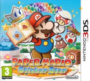 Paper Mario Sticker Star 3DS Cover