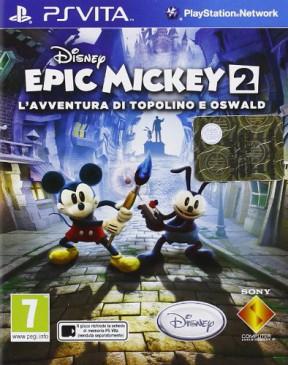 Disney Epic Mickey 2: L'Avventura di Topolino e Oswald PS Vita Cover