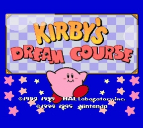 Kirby's Dream Course Wii U Cover