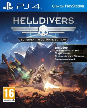 Helldivers PS4 Cover