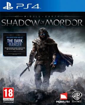 La Terra di Mezzo: L'Ombra di Mordor PS4 Cover