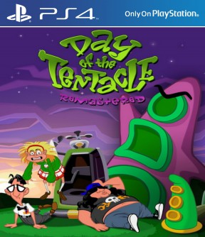 Day of the Tentacle Remastered PS4 Cover