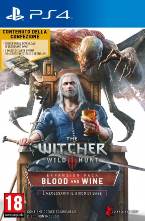 The Witcher 3: Blood & Wine PS4 Cover
