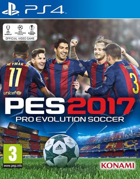 PES 2017 PS4 Cover