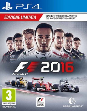 F1 2016 PS4 Cover