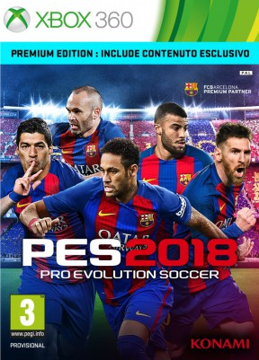 PES 2018 Xbox 360 Cover