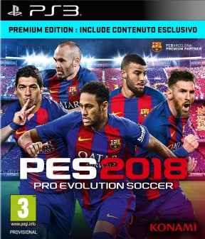 PES 2018 PS3 Cover