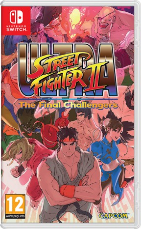 Ultra Street Fighter II Turbo Switch Cover