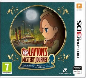Layton's Mystery Journey: Katrielle e il Complotto dei Milionari 3DS Cover