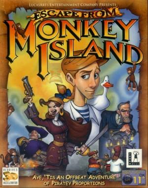 Copertina Fuga da Monkey Island - PC