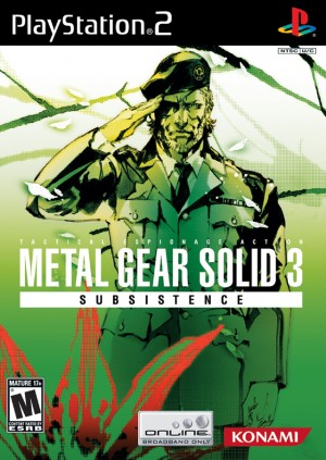 Copertina Metal Gear Solid 3: Subsistence - PS2