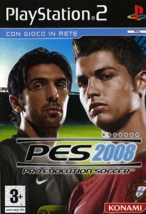 Copertina PES 2008 - PS2