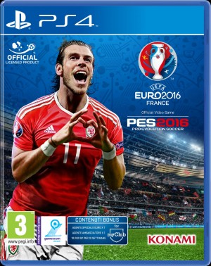 Copertina Pro Evolution Soccer 2016 - UEFA Euro 2016 - PS4