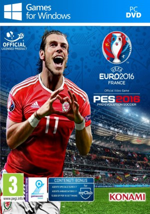Copertina Pro Evolution Soccer 2016 - UEFA Euro 2016 - PC