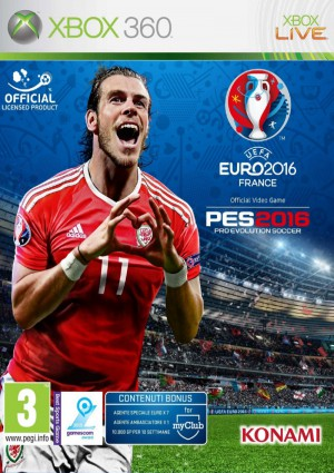 Copertina Pro Evolution Soccer 2016 - UEFA Euro 2016 - Xbox 360