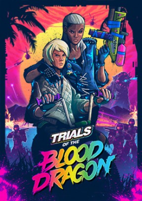 Trials of the Blood Dragon PS4 Cover
