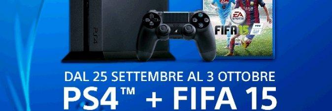 Dal 25 Settembre al 3 Ottobre PS4 e Fifa15 a 399€