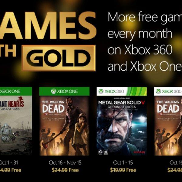 Games With Gold: i giochi di ottobre