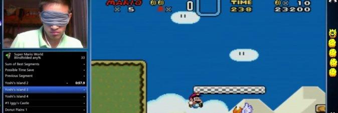 Giocatore finisce Super Mario World in 23 minuti... bendato!