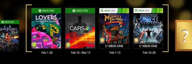 Ecco i Games with Gold del mese di Febbraio