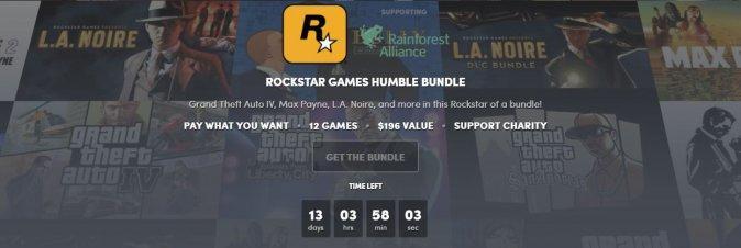 Il nuovo Humble Bundle è dedicato a Rockstar
