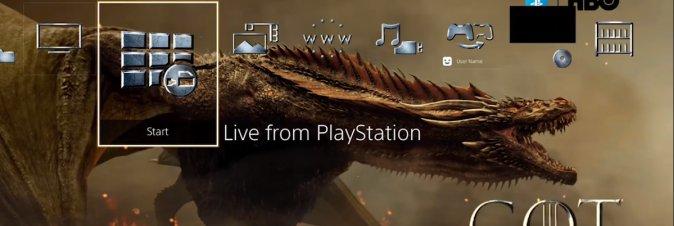 Tema e Avatar limitati di Game of Thrones gratuiti su PS4