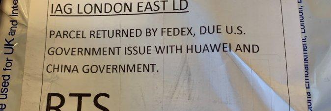 FedEx rifiuta la consegna di smartphone Huawei negli USA