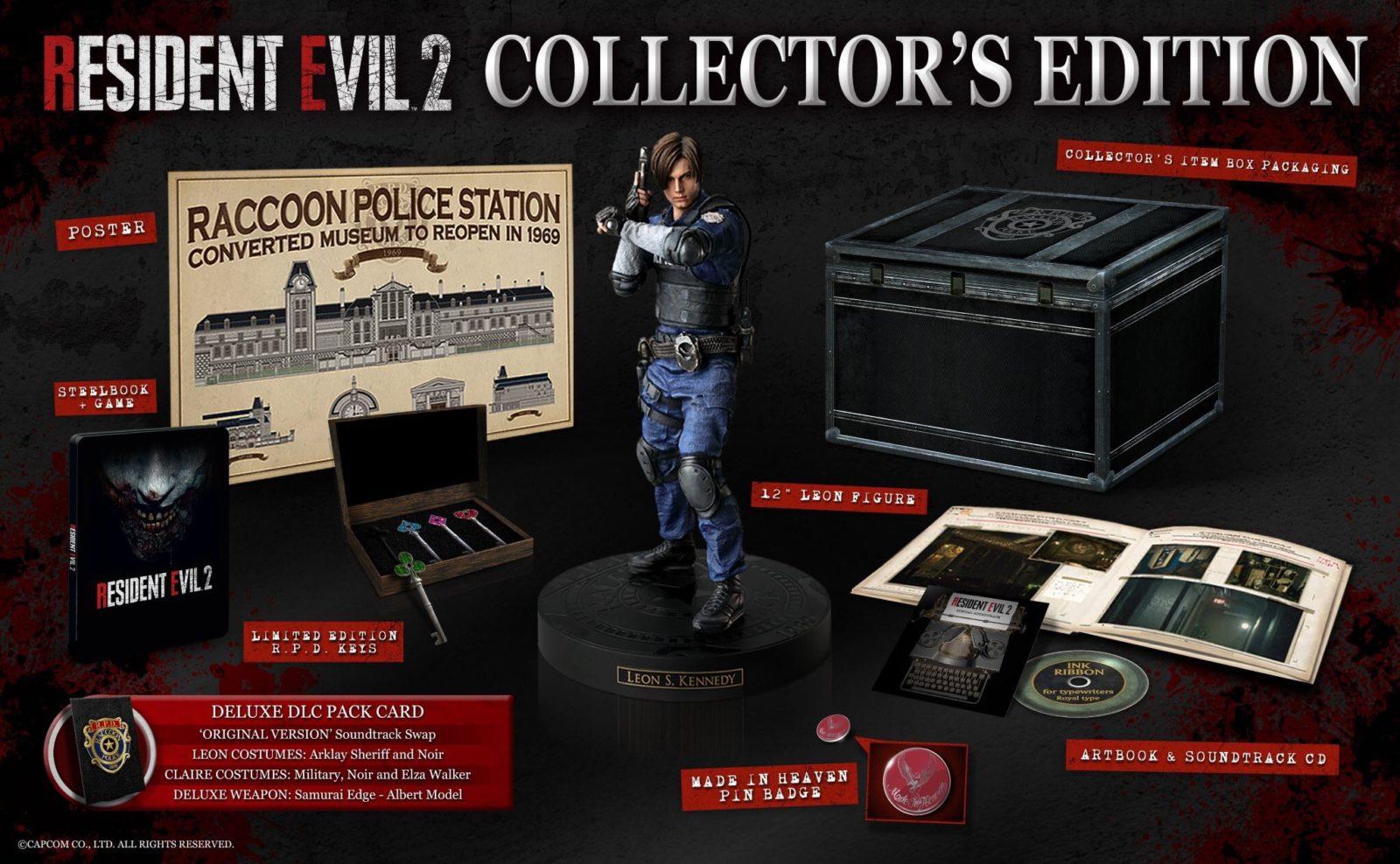 La collector's Edition di Resident Evil 2 remake unboxata