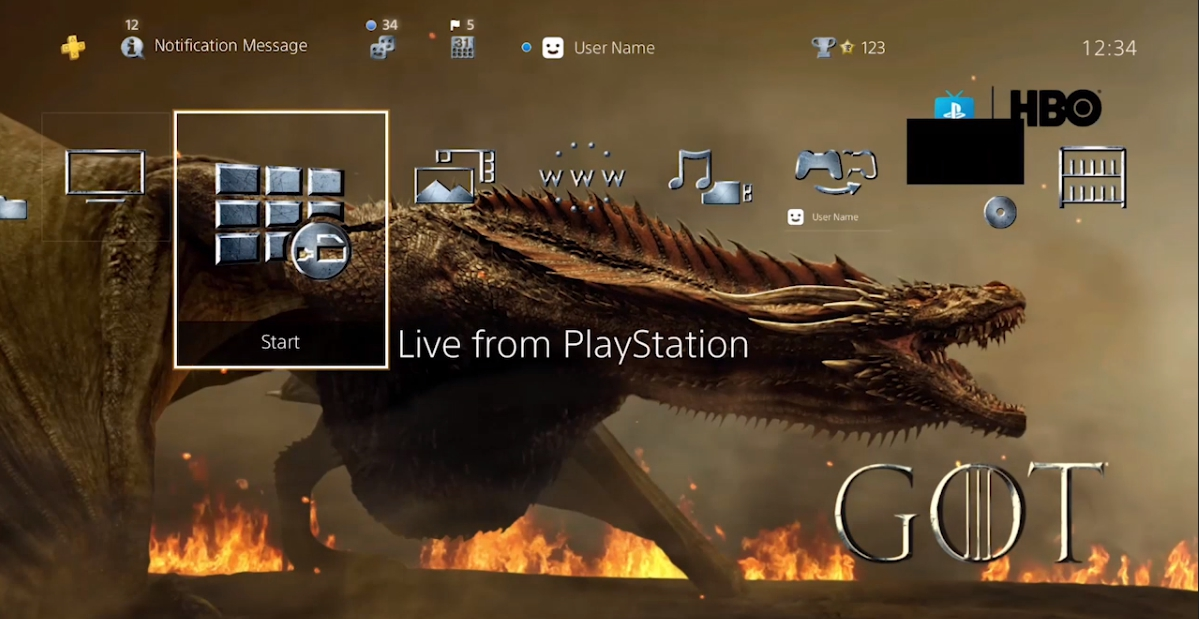Tema e Avatar limitati di Game of Thrones gratuiti su PS4