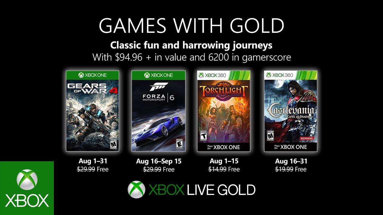 Ecco quali sono i titoli Games With Gold di agosto