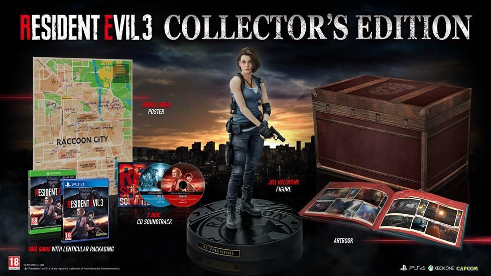 La collector's edition di Resident Evil 3 è pre ordinabile da oggi