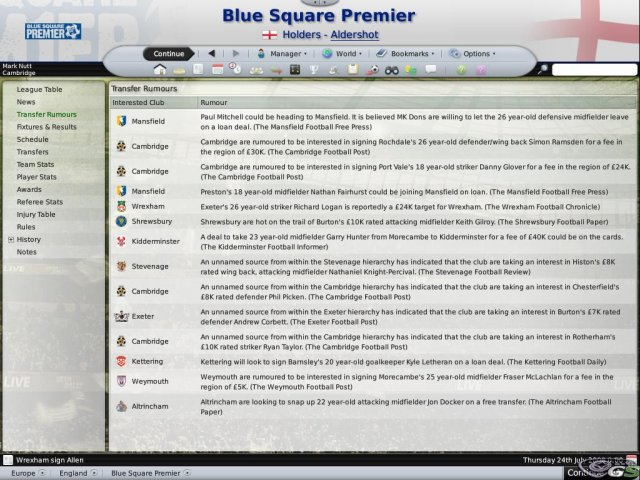 Football Manager 2009 immagine 4956