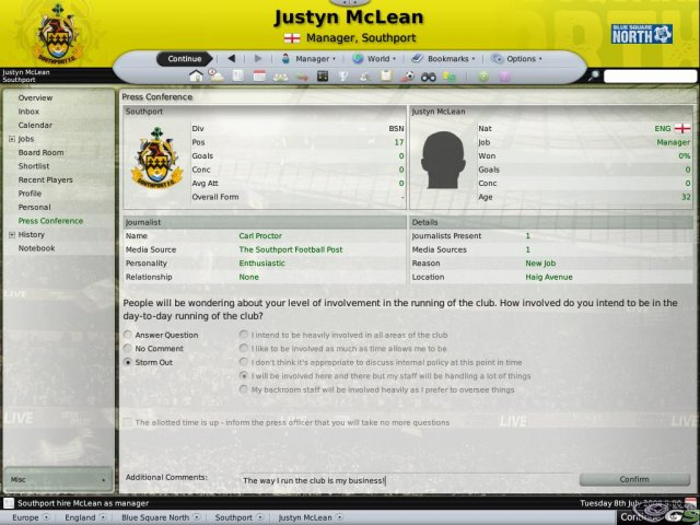 Football Manager 2009 immagine 4957