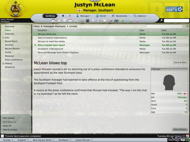 Football Manager 2009 immagine 4958