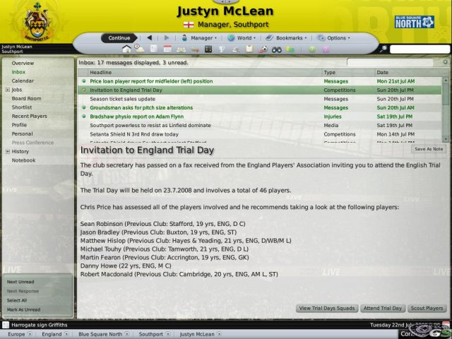 Football Manager 2009 immagine 4959